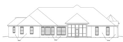 Rear Elevation Plan: 11-281