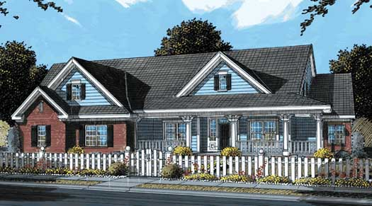 Country Style Home Design Plan: 11-282