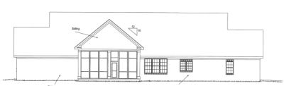 Rear Elevation Plan: 11-282