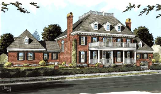 Southern Style Floor Plans Plan: 11-283