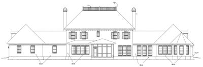 Rear Elevation Plan: 11-283