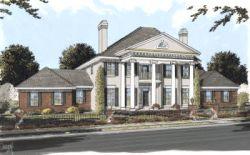 Greek-Revival Style Floor Plans Plan: 11-284