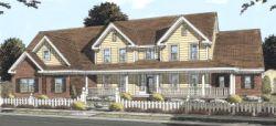 Farm Style Home Design Plan: 11-285