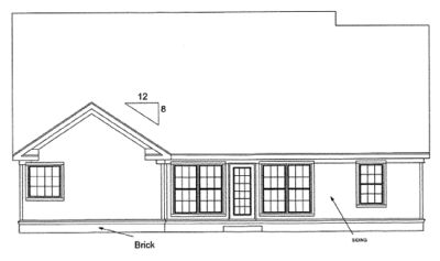 Rear Elevation Plan: 11-287