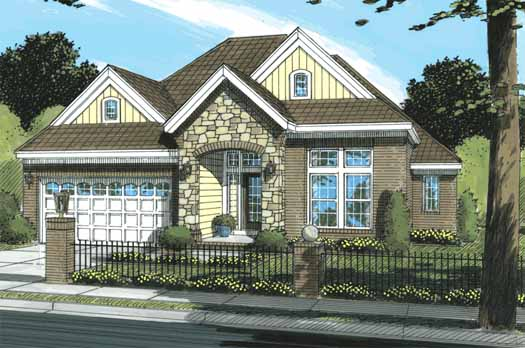 Traditional Style Home Design Plan: 11-288