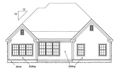 Rear Elevation Plan: 11-288
