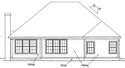 Rear Elevation Plan: 11-289