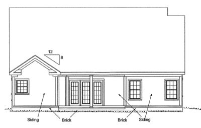 Rear Elevation Plan: 11-290