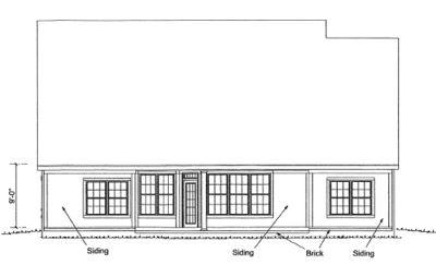 Rear Elevation Plan: 11-291