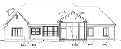 Rear Elevation Plan: 11-292
