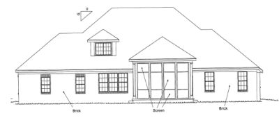 Rear Elevation Plan: 11-293