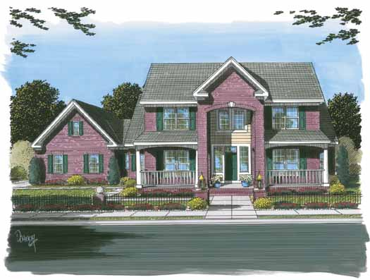 Traditional Style Home Design Plan: 11-294