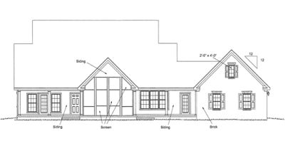 Rear Elevation Plan: 11-294