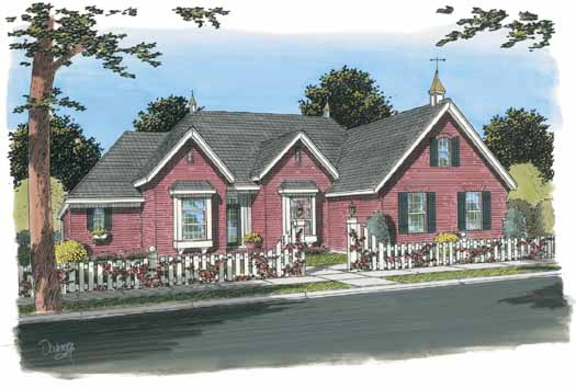 Traditional Style Home Design Plan: 11-295