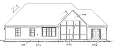 Rear Elevation Plan: 11-295
