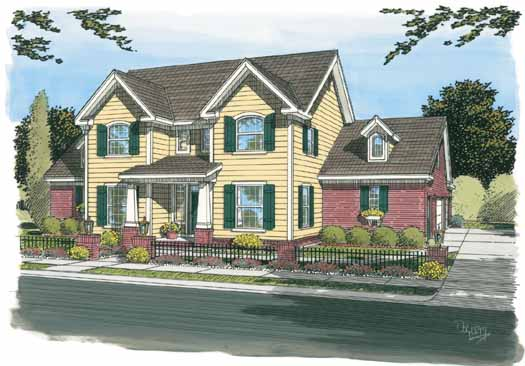 Traditional Style Home Design Plan: 11-296