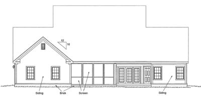 Rear Elevation Plan: 11-296