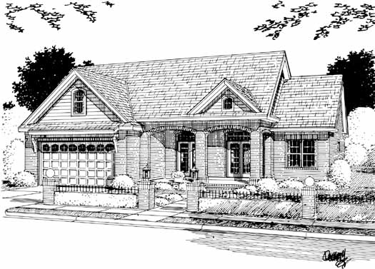 Traditional Style Home Design Plan: 11-298