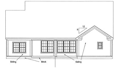 Rear Elevation Plan: 11-298
