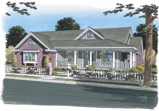 Country Style Floor Plans Plan: 11-299