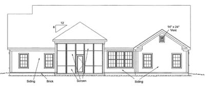 Rear Elevation Plan: 11-299