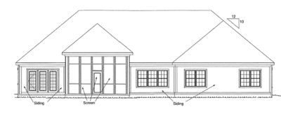 Rear Elevation Plan: 11-300