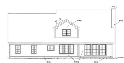 Rear Elevation Plan: 11-301