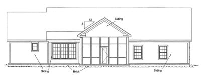 Rear Elevation Plan: 11-302