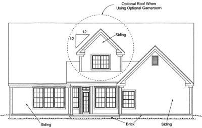 Rear Elevation Plan: 11-303