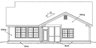 Rear Elevations Plan:11-304