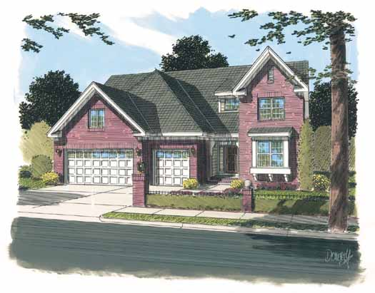 European Style House Plans Plan: 11-305