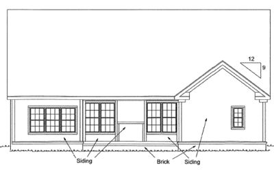 Rear Elevations Plan:11-305