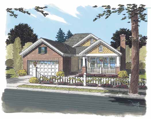 Craftsman Style Home Design Plan: 11-306
