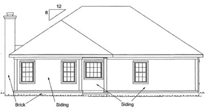 Rear Elevation Plan: 11-306