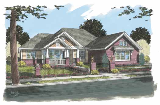 Craftsman Style Floor Plans Plan: 11-307