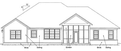 Rear Elevation Plan: 11-307