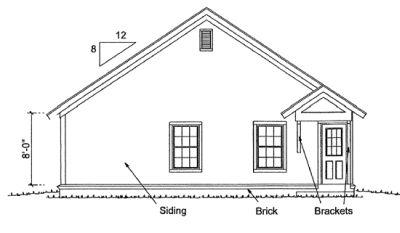 Rear Elevation Plan: 11-308