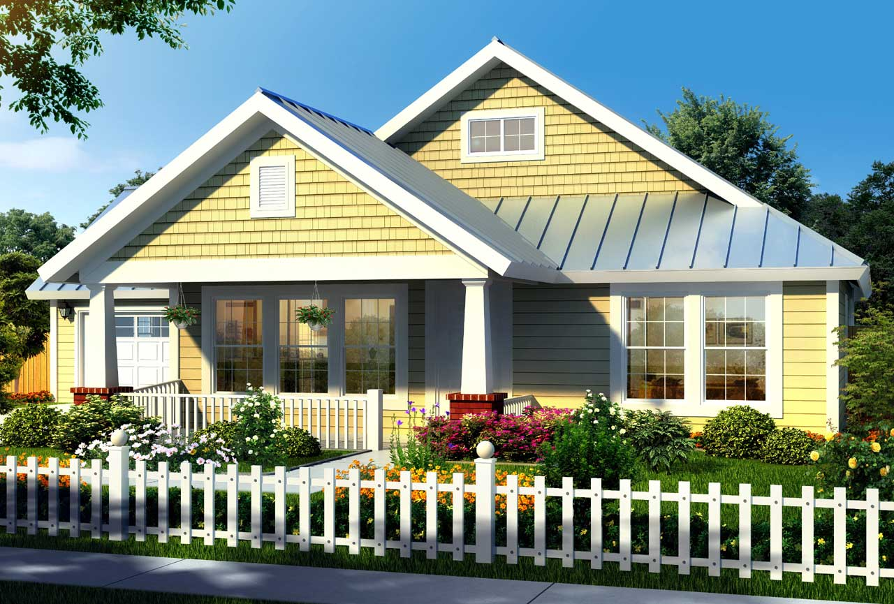 Craftsman Style Home Design 11-309