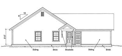 Rear Elevation Plan: 11-309