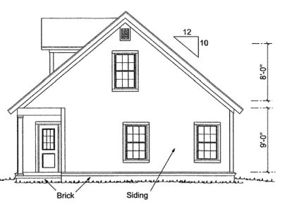 Rear Elevation Plan: 11-310