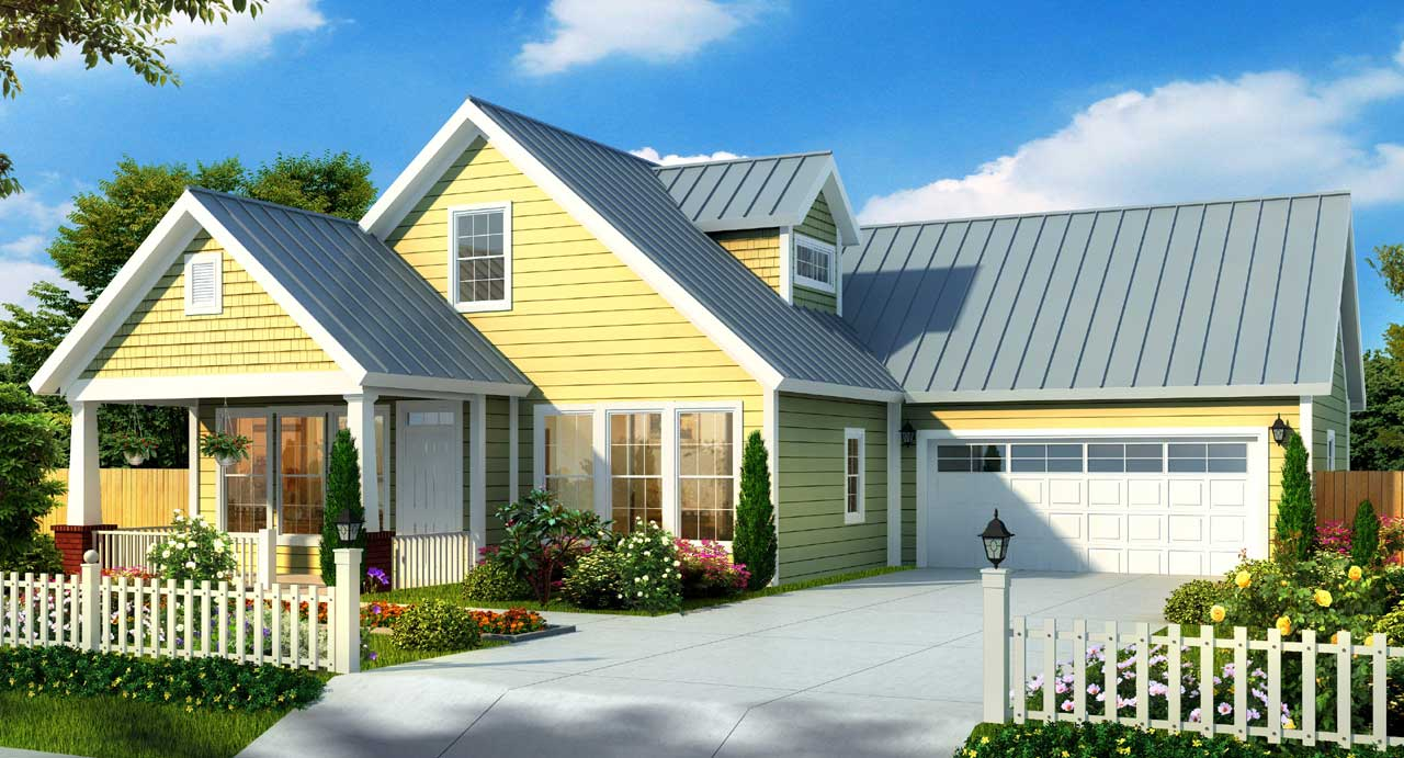 Craftsman Style Home Design Plan: 11-311