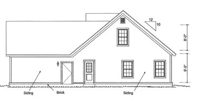 Rear Elevation Plan: 11-311
