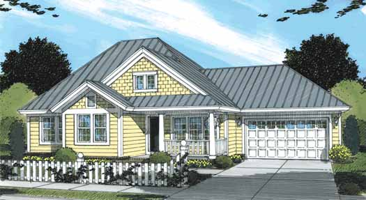 Traditional Style Home Design Plan: 11-315