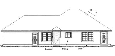 Rear Elevation Plan: 11-315