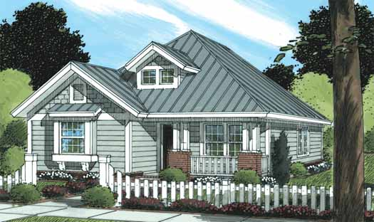 Traditional Style Home Design Plan: 11-316