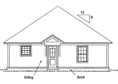 Rear Elevation Plan: 11-316