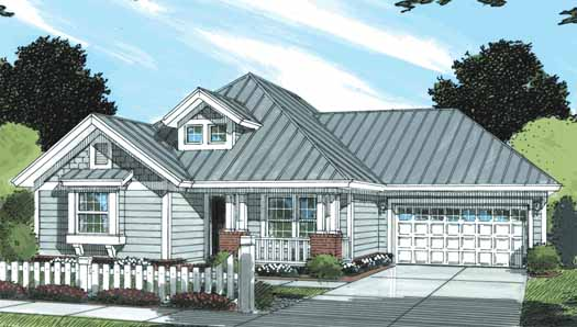 Traditional Style Home Design Plan: 11-317