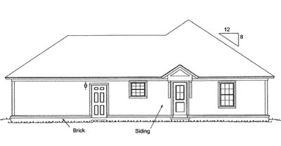 Rear Elevation Plan: 11-317