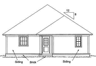 Rear Elevation Plan: 11-318
