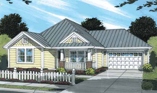 Traditional Style Home Design Plan: 11-319